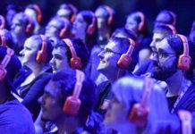 Zuschauer eines Videospiels