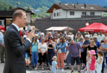 Ansprache zur Eröffnung des Bahnhof Küblis