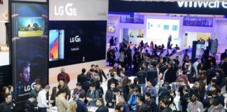 LG-Stand an der WMC 2017