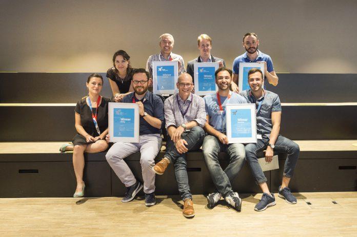 Die Gewinner der Swisscom StartUp Challenge.