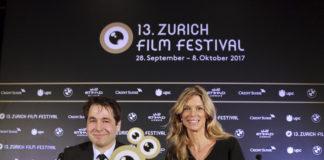 Die Festivaldirektoren Nadja Schildknecht und Karl Spoerri an der Pressekonferenz im Hotel Widder in Zürich.
