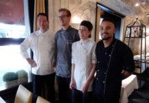 David Krüger mit Küchen-Crew