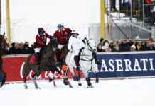 Reiter am Polo World Cup in St. Moritz