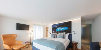 Loewe-Fernseher im Leoneck Swiss Hotel