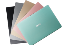 Farbige Acer Notebooks