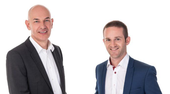 Uwe Gries von Stormshield und Mauro Soldati von Alltron