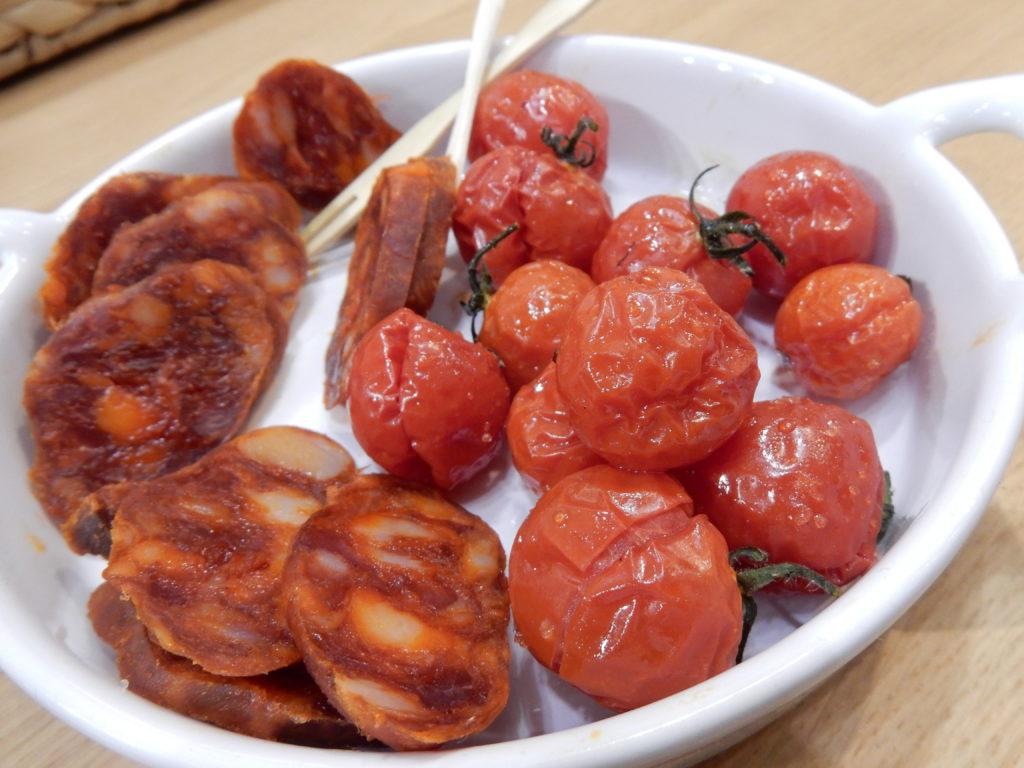 Salchichon & Sherry-Tomaten