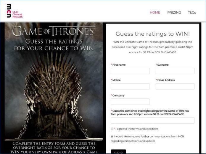 Game of Thrones Phishing
