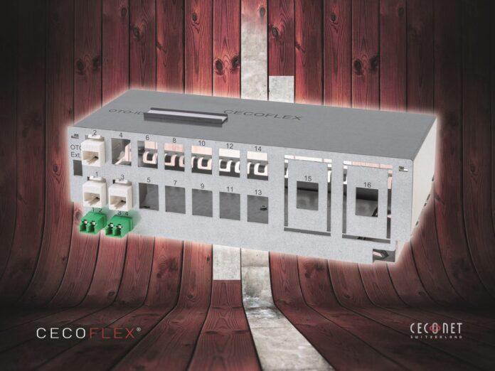 Das clevere CECOFLEX-Verkabelungssystem von Ceconet erhält mit dem neuen 9,7-Zoll-Patchpanel Zuwachs (Source: CECONET).